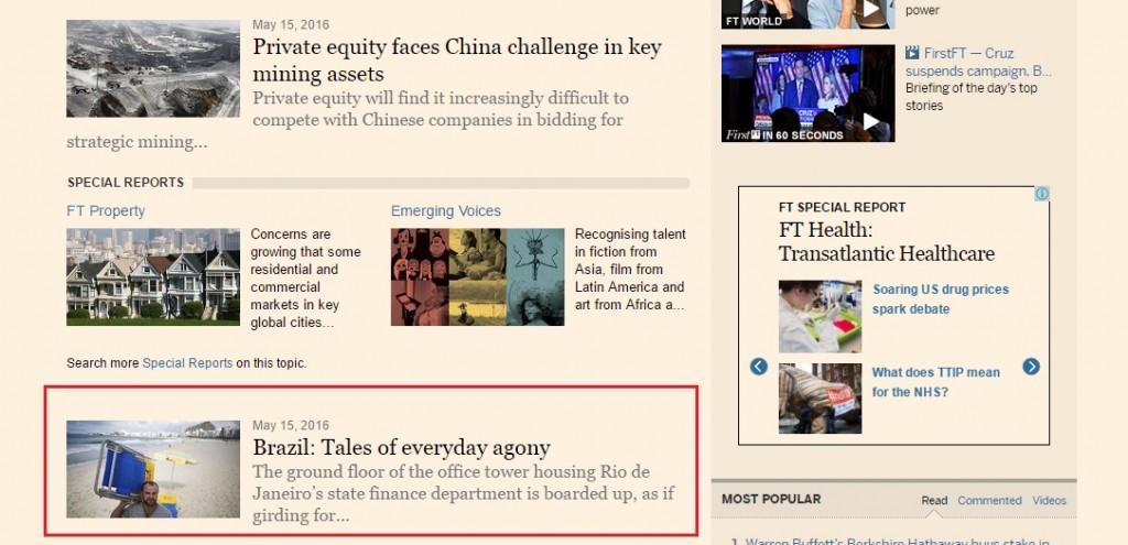 Financial Times - 16 de maio CRESCENDO NA CRISE site